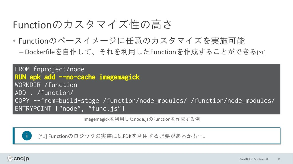 Cloud Native Developers JP Functionのカスタマイズ性の高さ ...