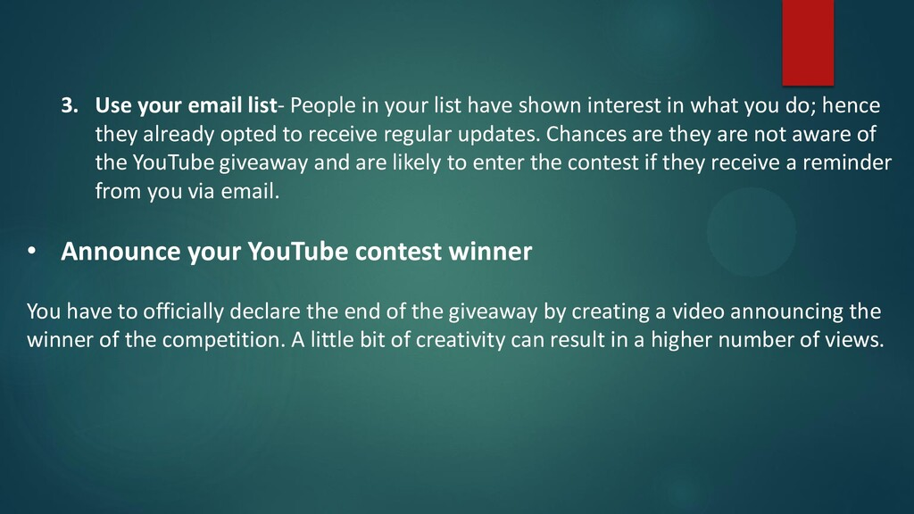 3. Use your email list- People in your list hav...
