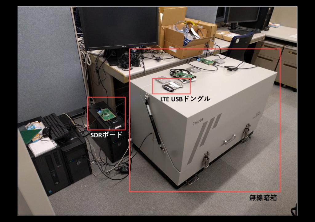 ラボ環境の紹介 SDRボード LTE USBドングル 無線暗箱