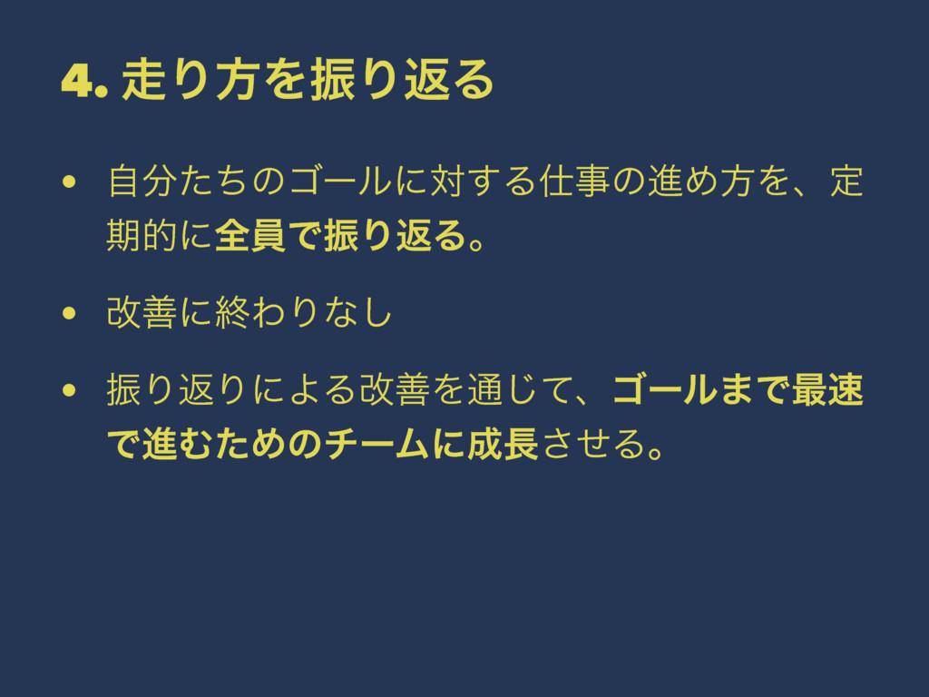 4. ΓํΛৼΓฦΔ • ࣗͨͪͷΰʔϧʹର͢ΔͷਐΊํΛɺఆ ظతʹશһͰৼΓฦΔɻ...