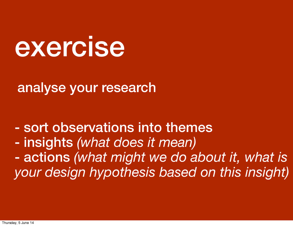 GDS Leisa exercise analyse your research - sort...