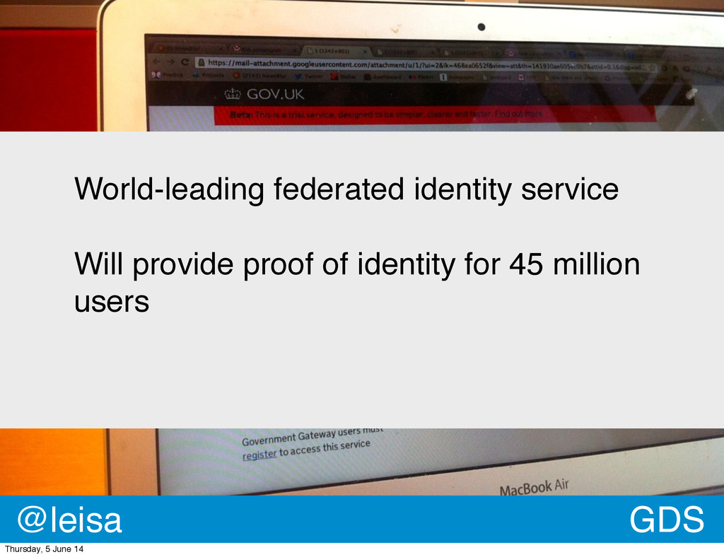World-leading federated identity service Will p...