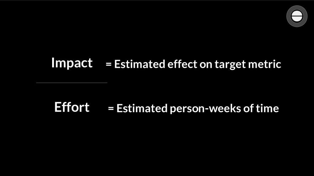 Confidence Impact Effort = Estimated effect on t...