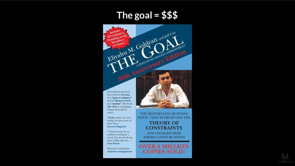 The goal = $$$
