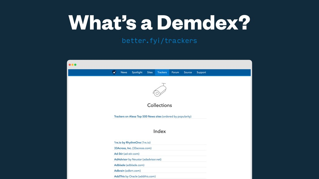 What's a Demdex? better.fyi/trackers