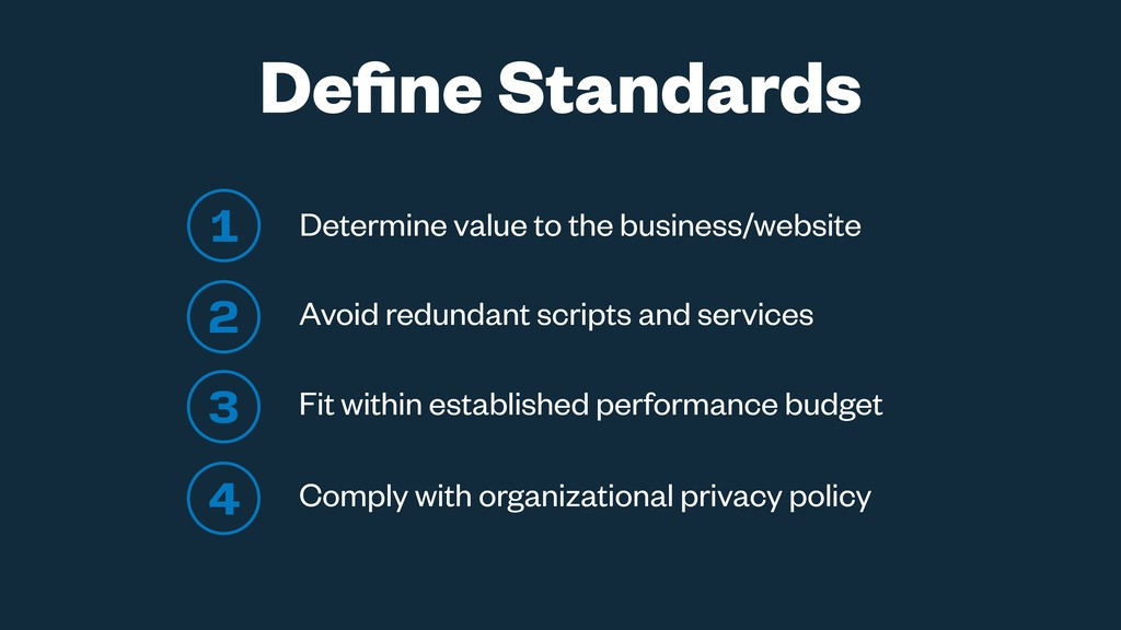 1 Determine value to the business/website 2 Avo...
