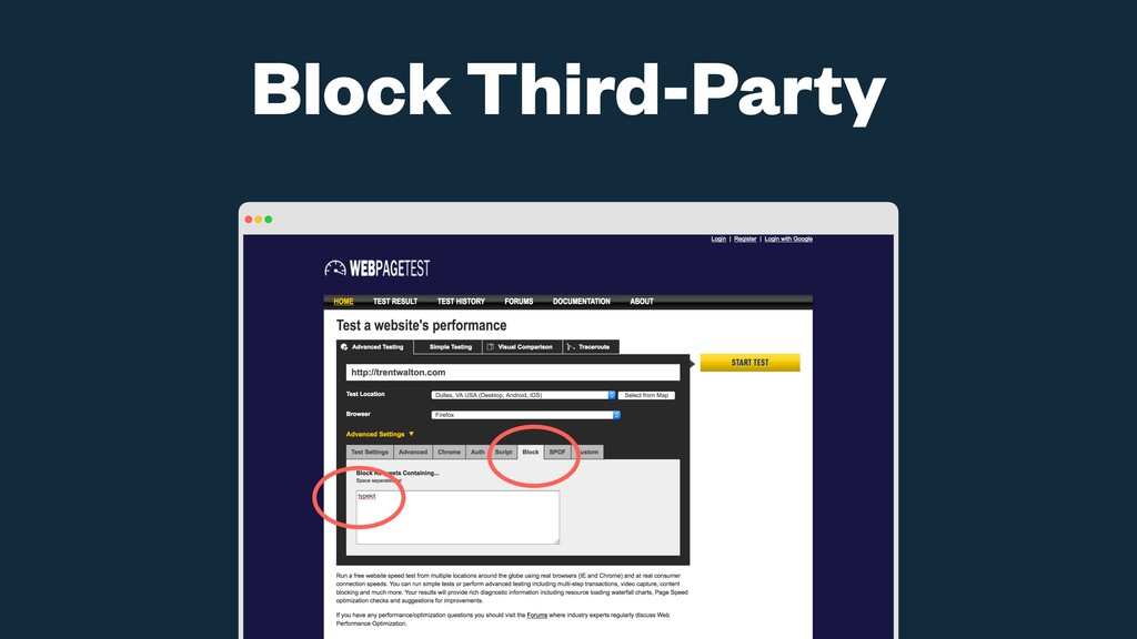 Block Third-Party