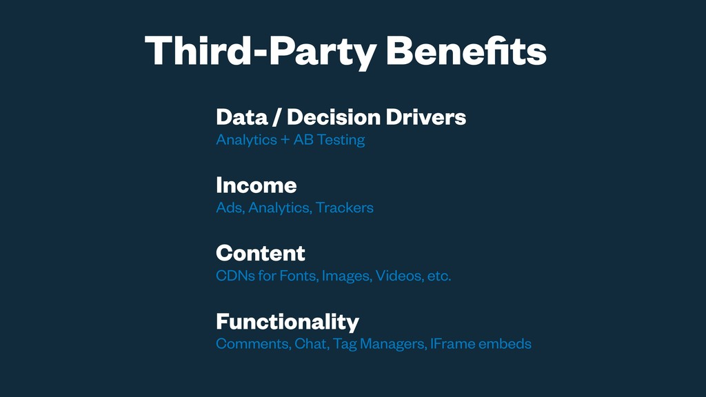Data / Decision Drivers Analytics + AB Testing ...