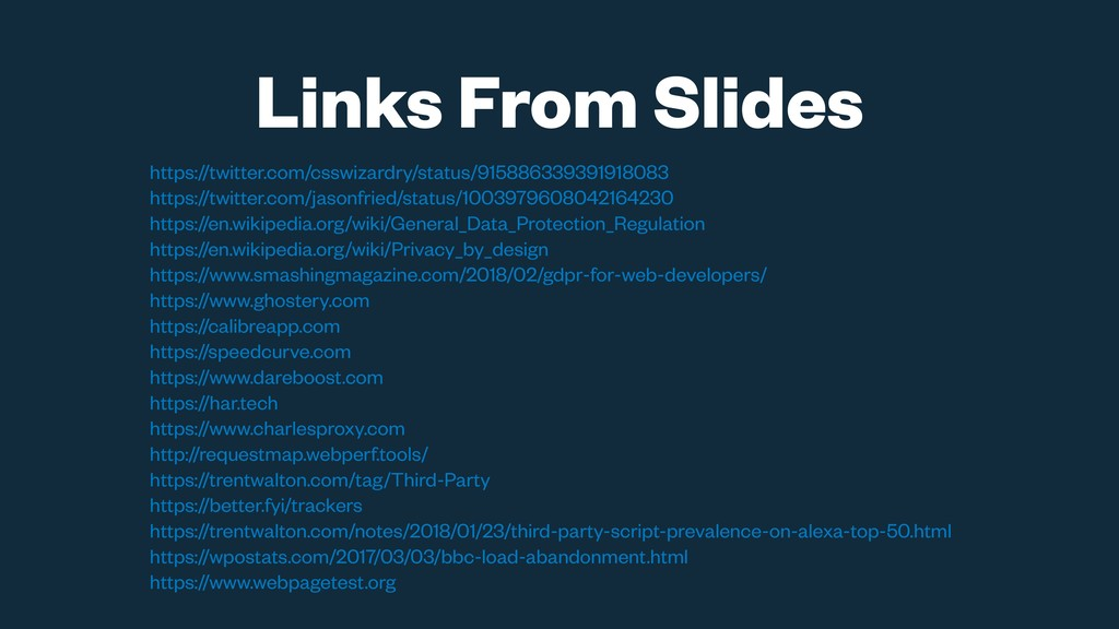 Links From Slides https://twitter.com/csswizard...