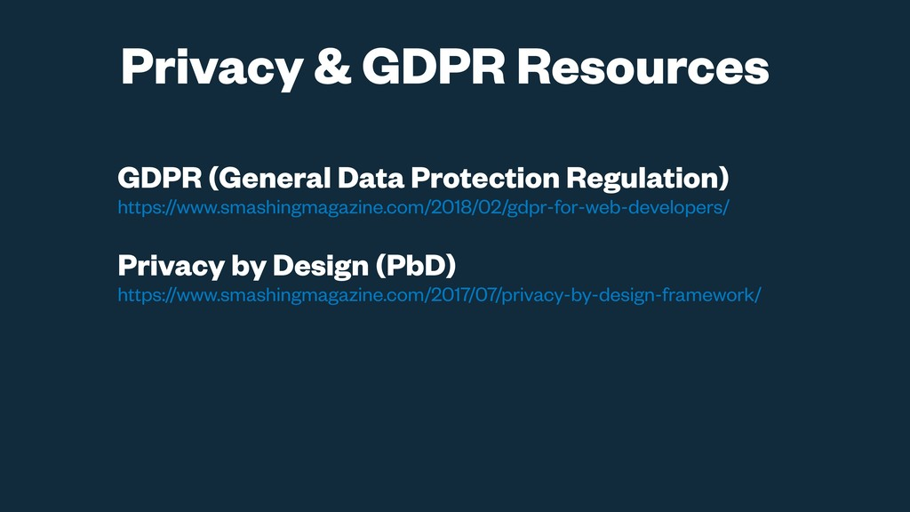 GDPR (General Data Protection Regulation) https...