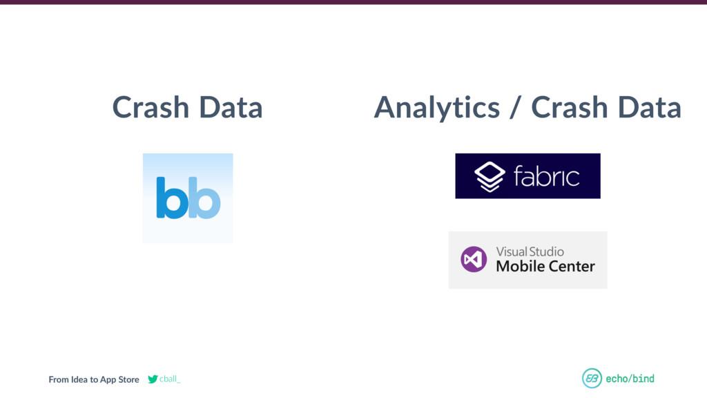 From Idea to App Store cball_ Analytics / Crash...