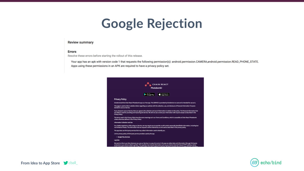 From Idea to App Store cball_ Google Rejection