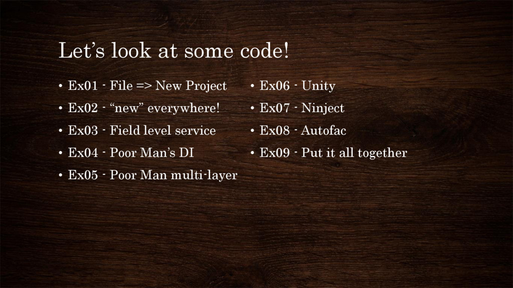 Let's look at some code! • Ex01 - File => New P...