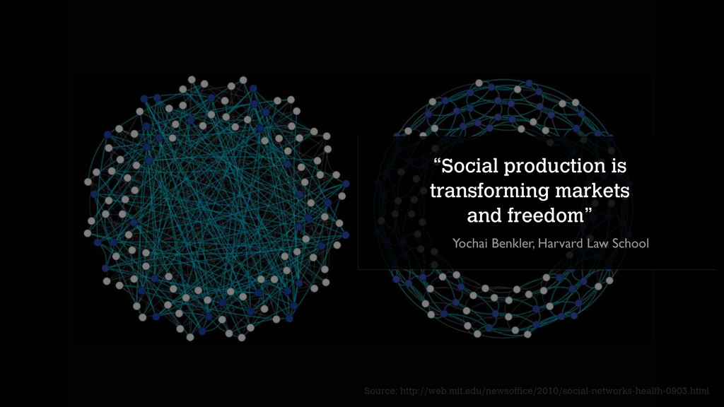 """""""Social production is transforming markets and ..."""