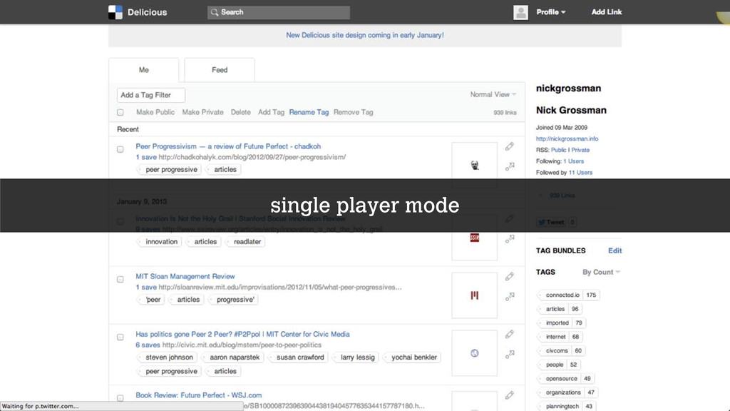 single player mode
