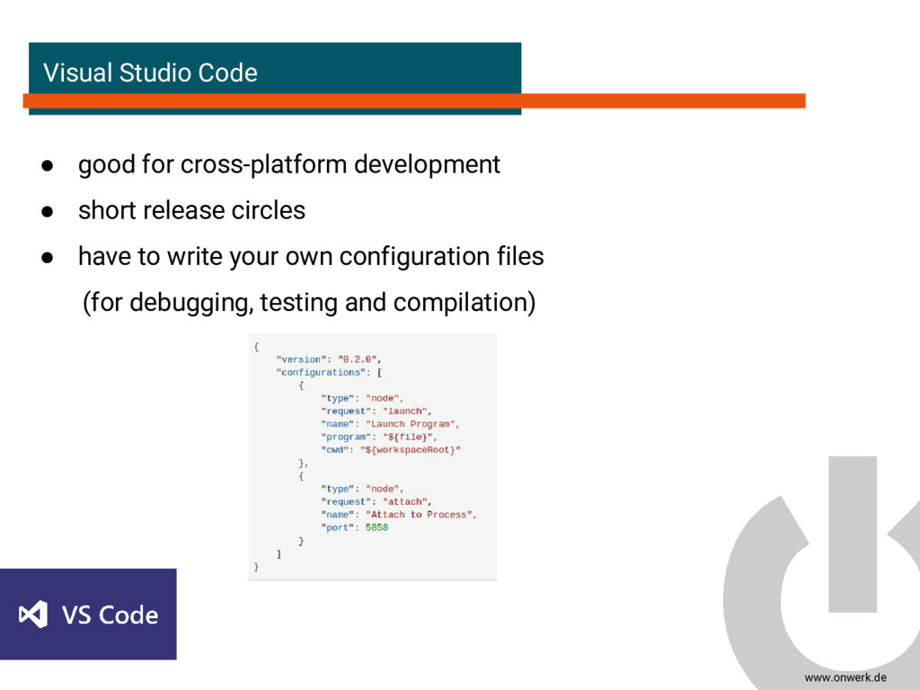 www.onwerk.de Visual Studio Code ● good for cro...