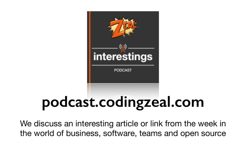 podcast.codingzeal.com We discuss an interestin...