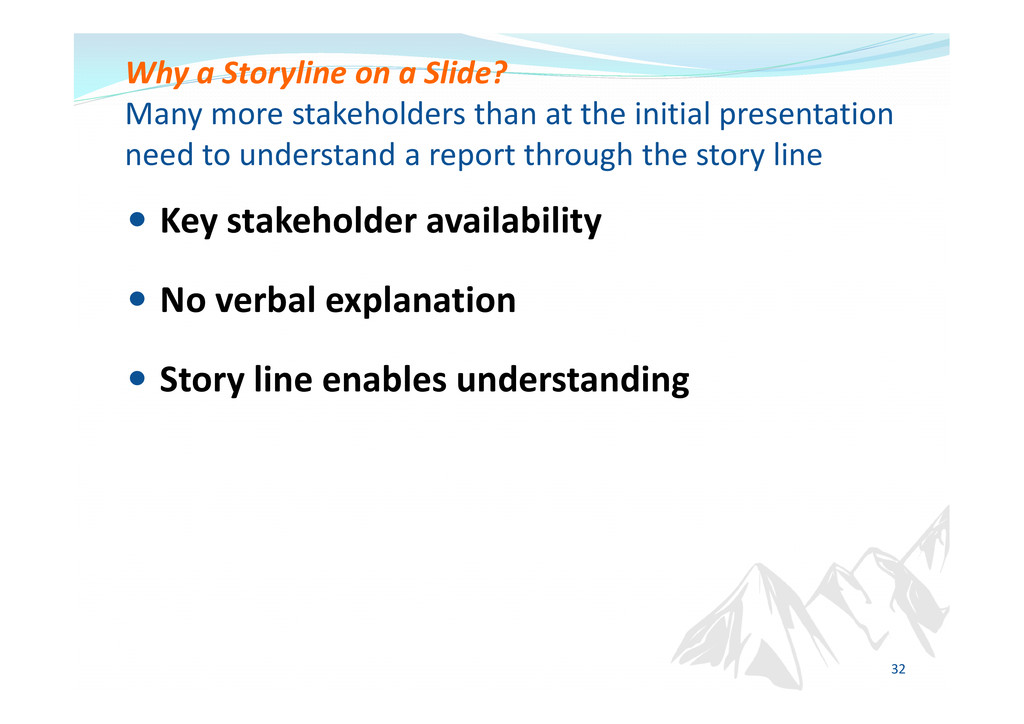 Key stakeholder availability No verbal explanat...