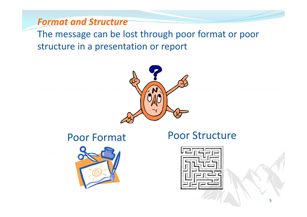 Format and Structure The message can be lost th...