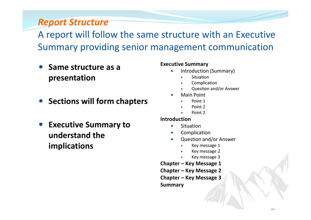 Executive Summary Introduction (Summary) Situat...