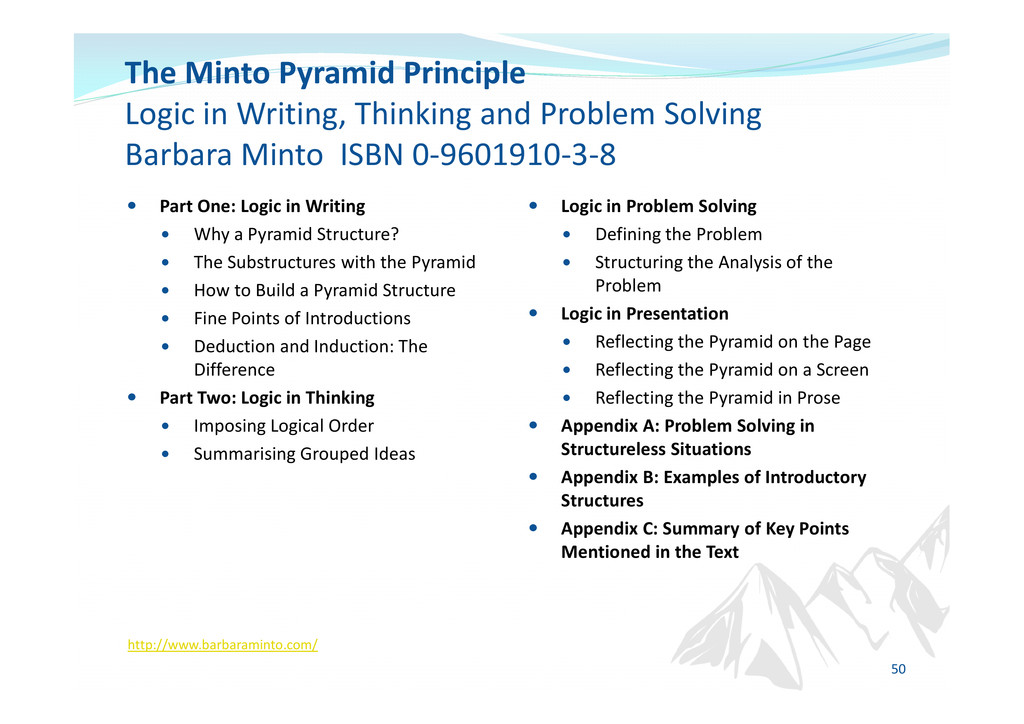 Part One: Logic in Writing Why a Pyramid Struct...