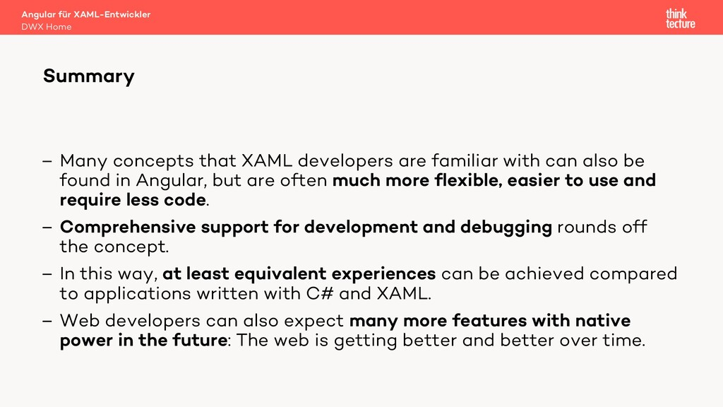 – Many concepts that XAML developers are famili...