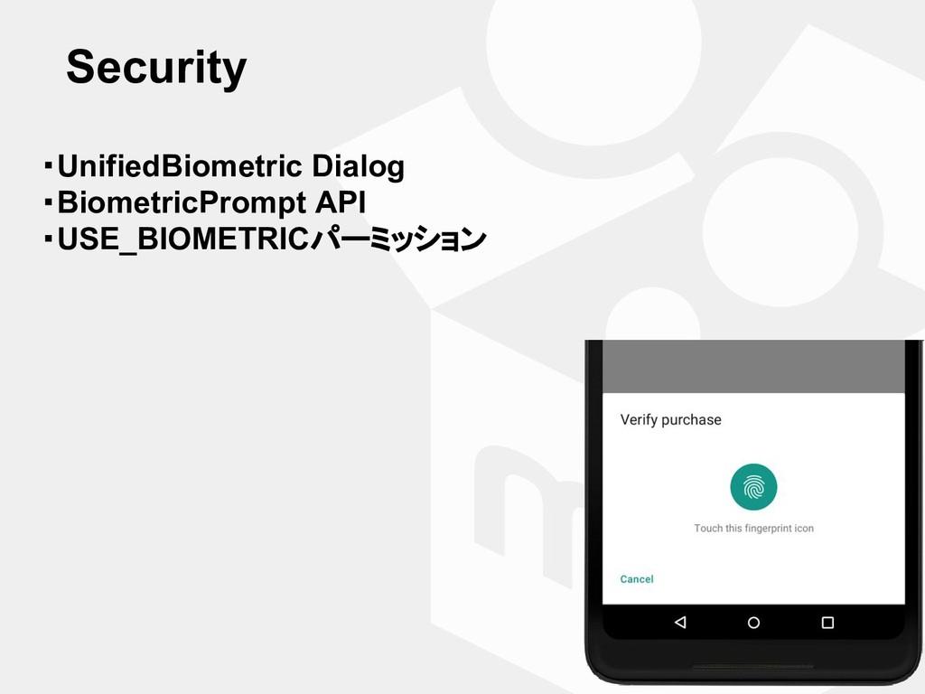 Security ・UnifiedBiometric Dialog ・BiometricPro...