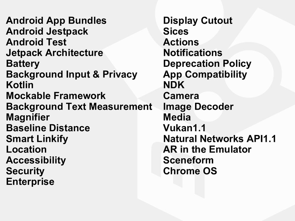 Android App Bundles Android Jestpack Android Te...