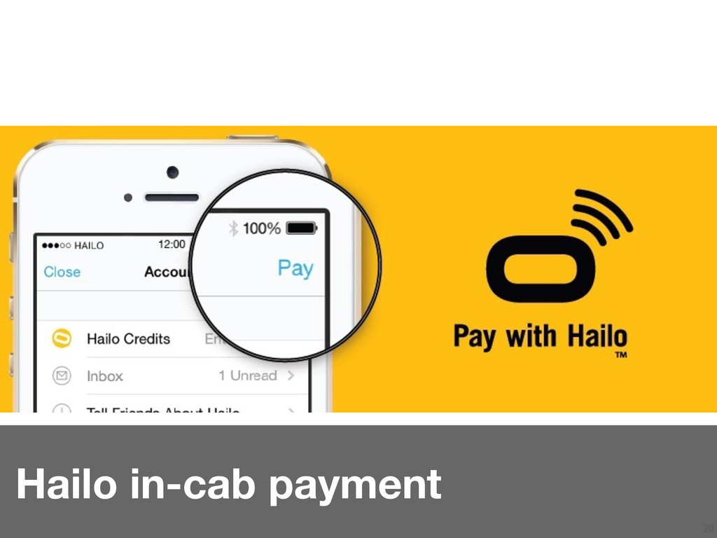 20 Hailo in-cab payment