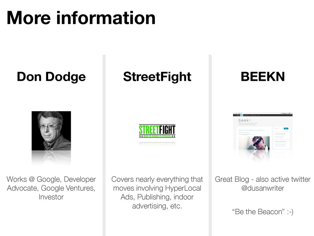 More information Don Dodge StreetFight BEEKN Wo...
