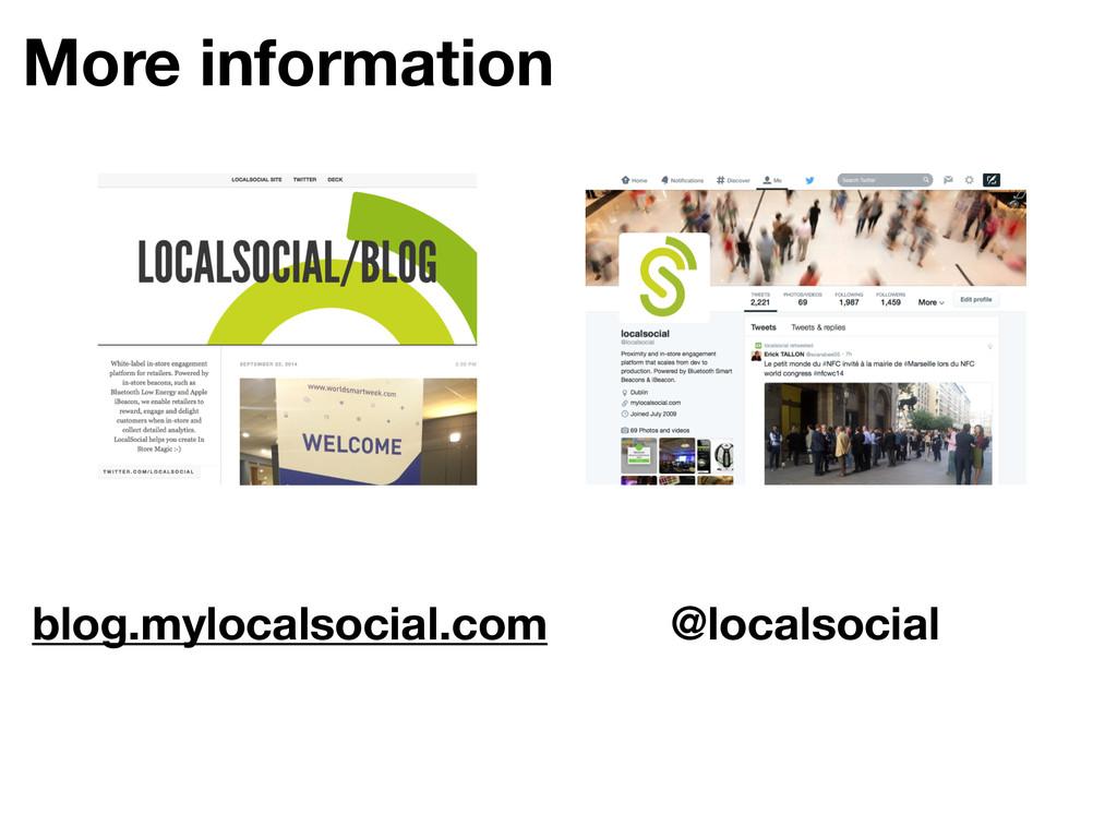 More information blog.mylocalsocial.com @locals...