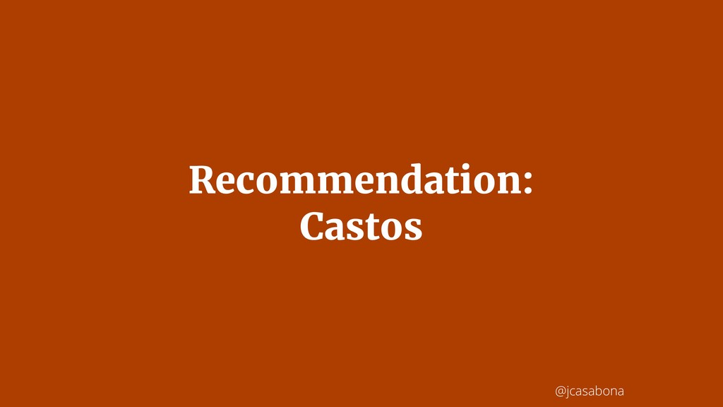 @jcasabona Recommendation: Castos