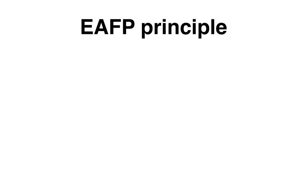 EAFP principle
