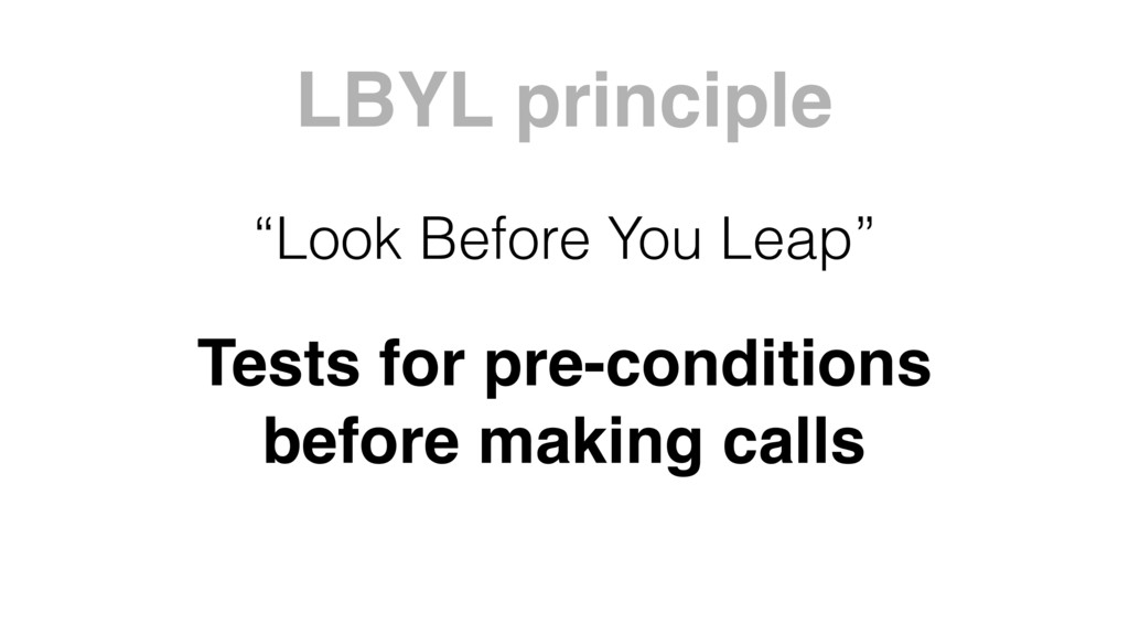 Tests for pre-conditions before making calls LB...