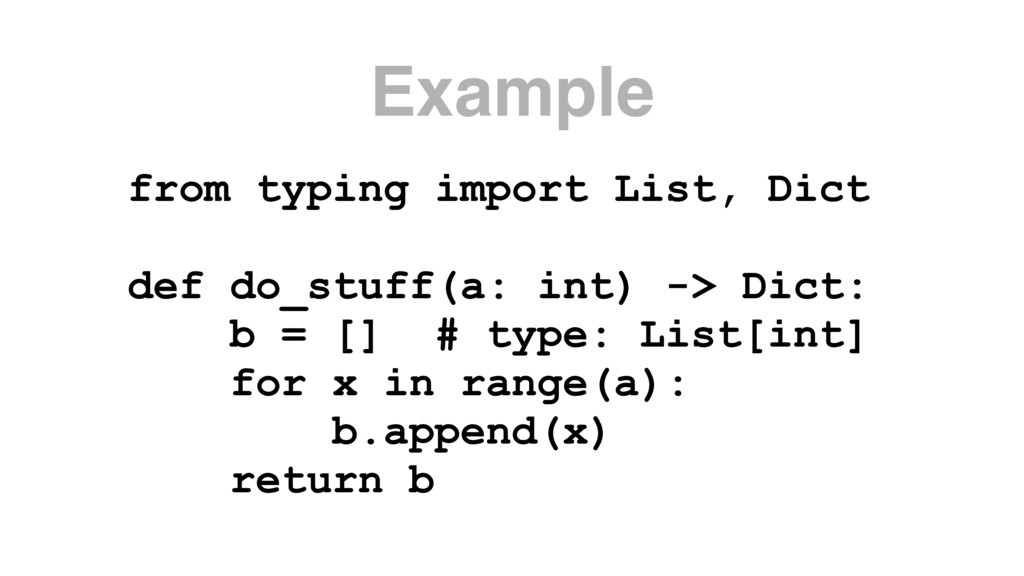 Example from typing import List, Dict def do_st...