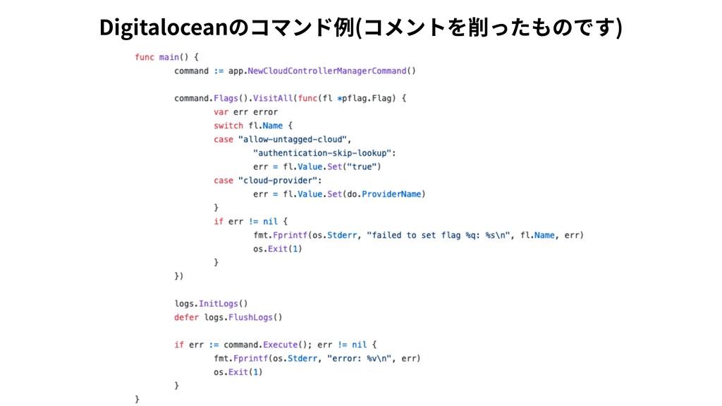 Digitaloceanのコマンド例(コメントを削ったものです)