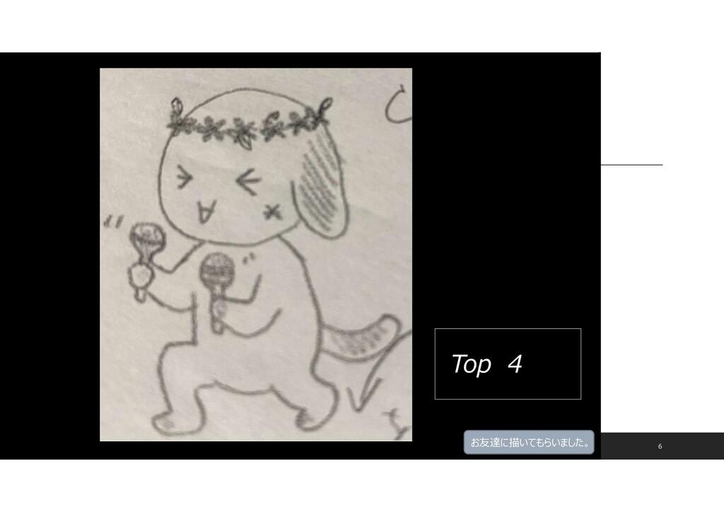 6  トップ4 Top 4 お友達に描いてもらいました。