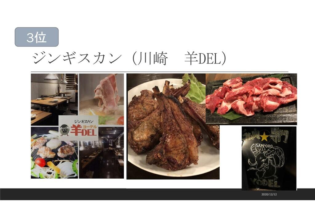 ジンギスカン(川崎 羊DEL) 2020/12/12 3位