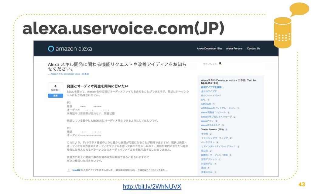43 alexa.uservoice.com(JP) http://bit.ly/2WhNUVX