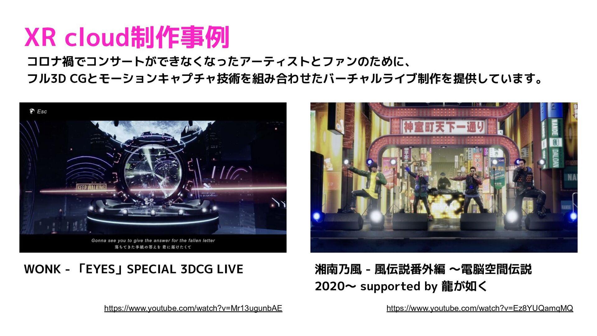 バーチャルライブの制作事例 27 WONK - 「EYES」SPECIAL 3DCG LIVE...