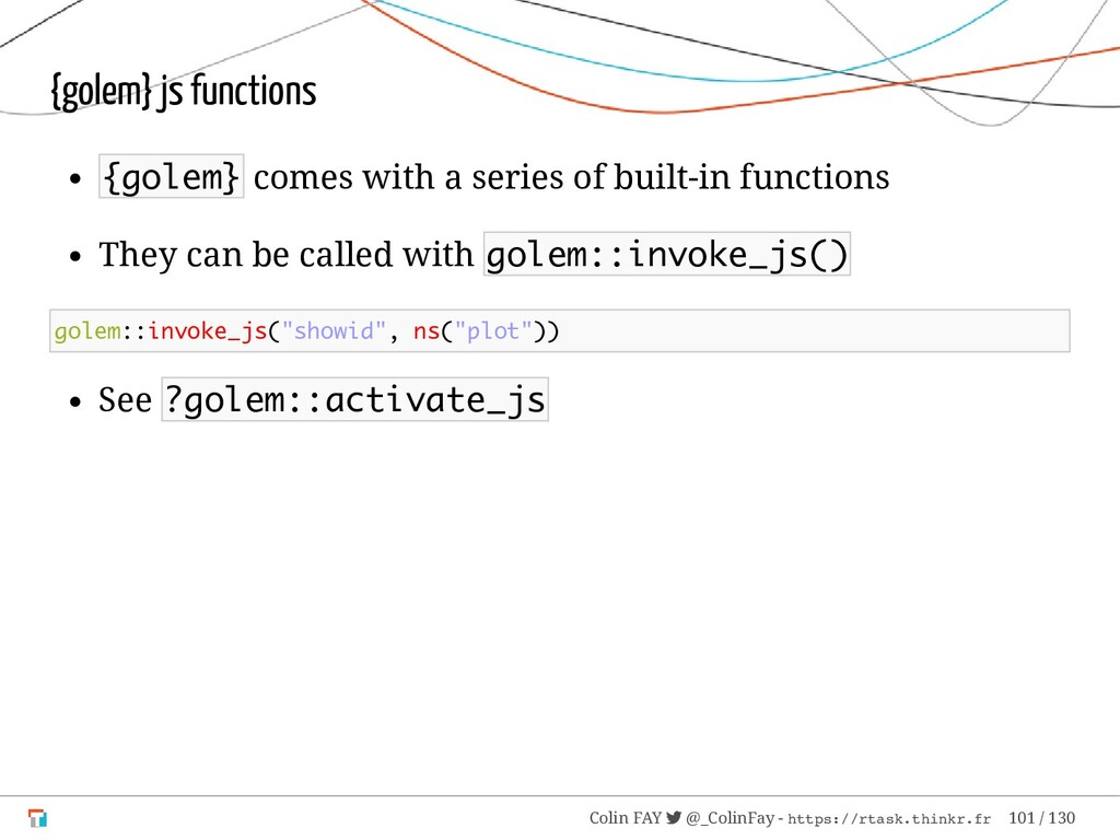 {golem} js functions {golem} comes with a serie...