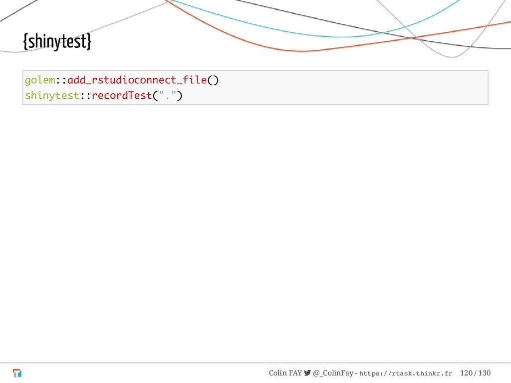 {shinytest} golem::add_rstudioconnect_file() sh...