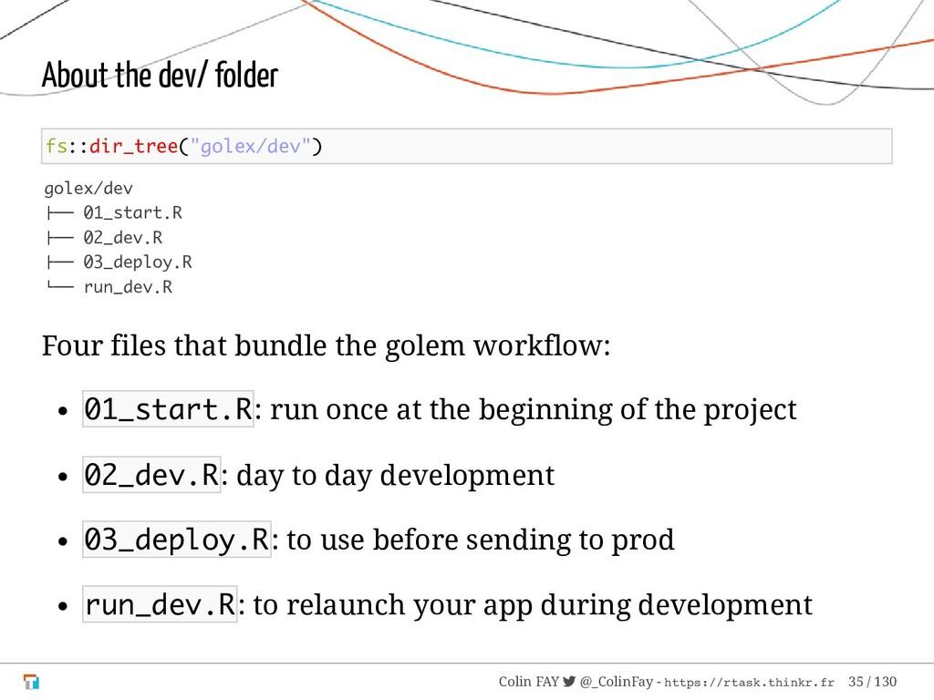 """About the dev/ folder fs::dir_tree(""""golex/dev"""")..."""