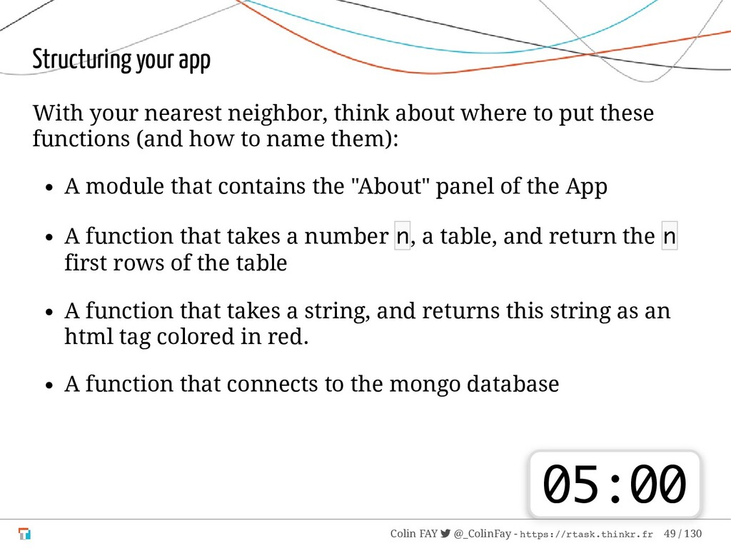 Structuring your app With your nearest neighbor...