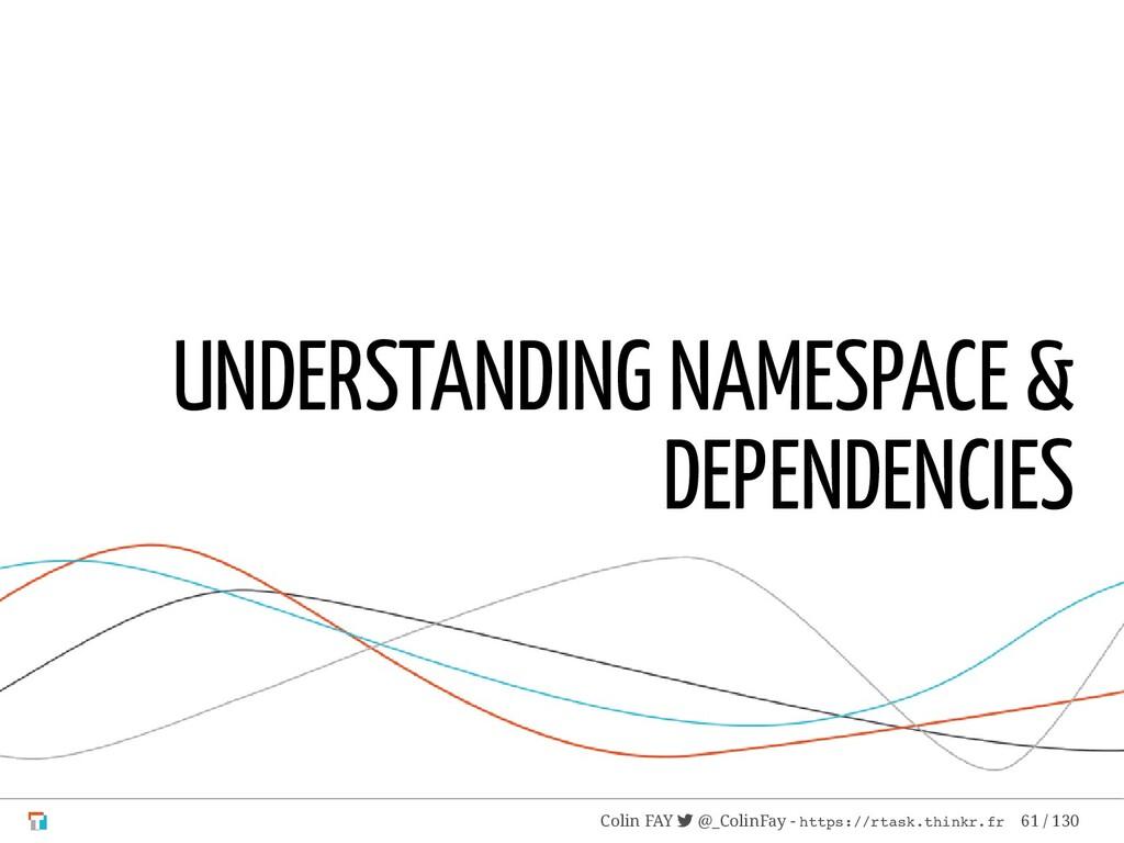 UNDERSTANDING NAMESPACE & DEPENDENCIES Colin FA...