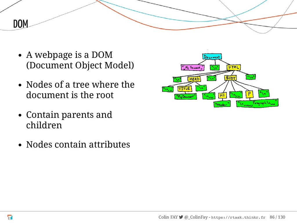 A webpage is a DOM (Document Object Model) Node...