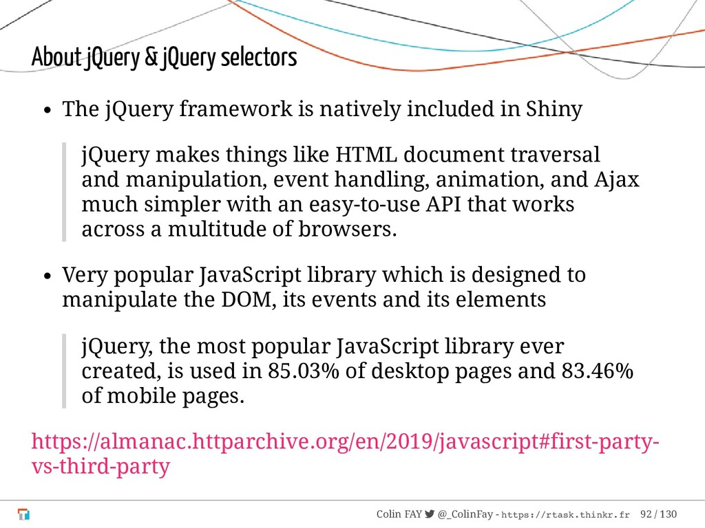 About jQuery & jQuery selectors The jQuery fram...