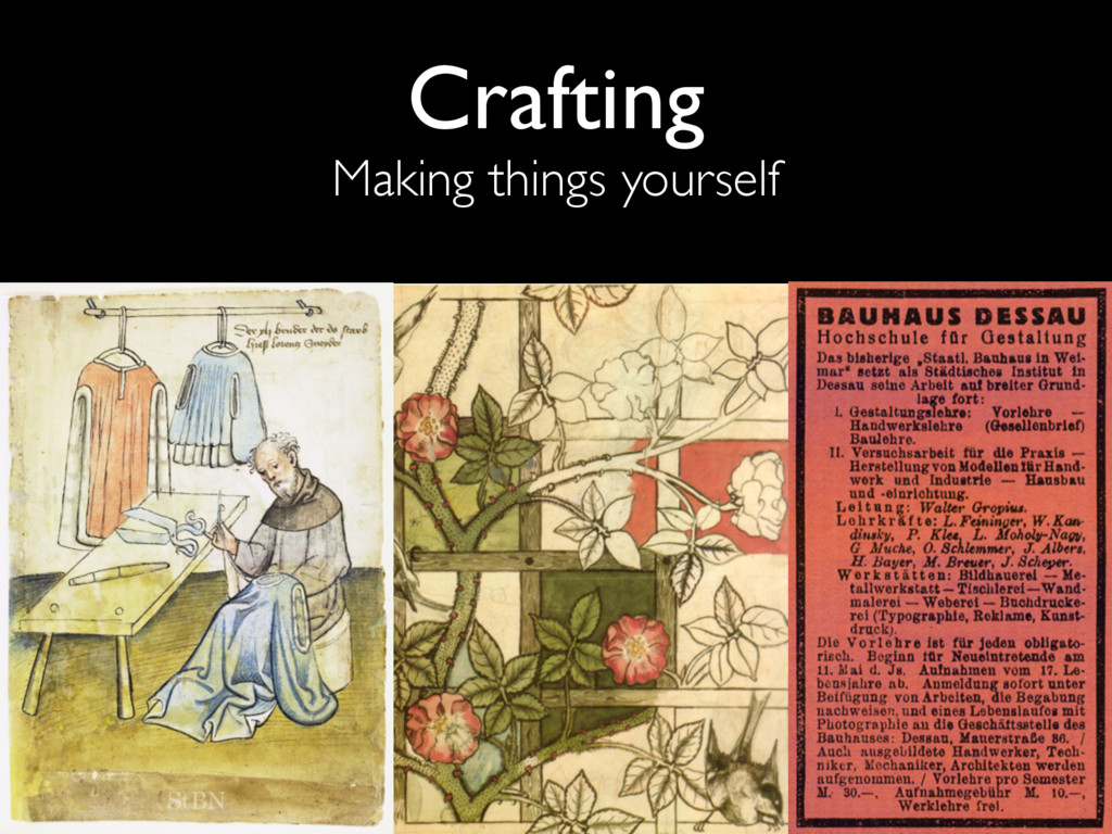 Crafting Making things yourself