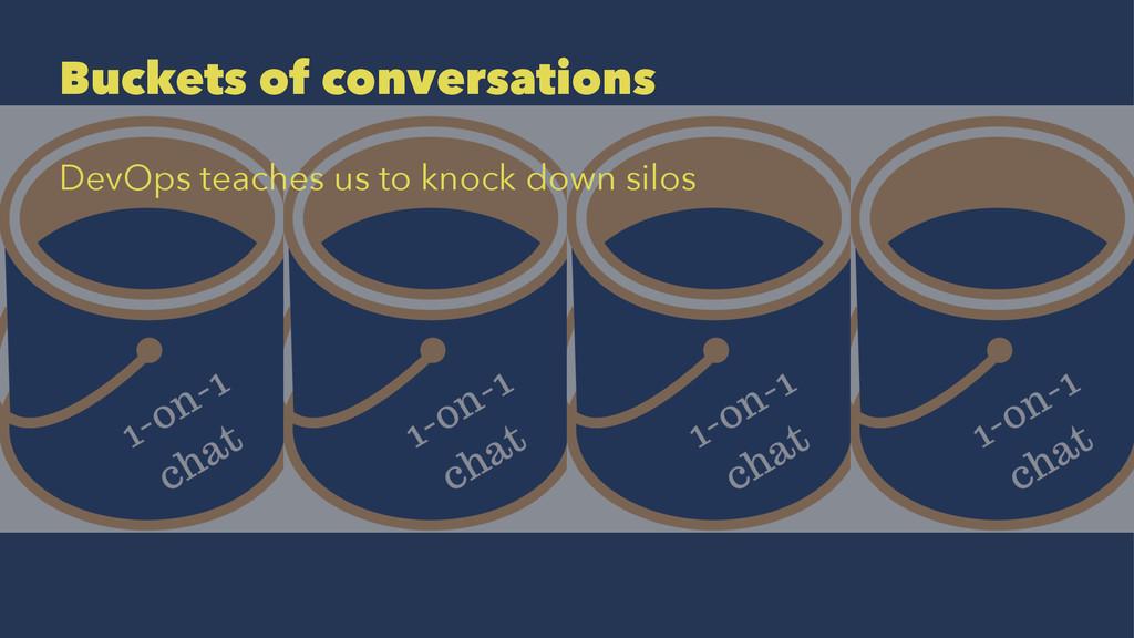 Buckets of conversations DevOps teaches us to k...