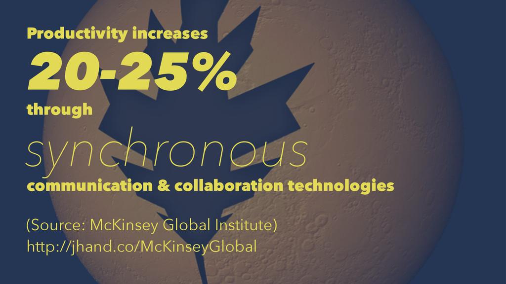 Productivity increases 20-25% through synchrono...